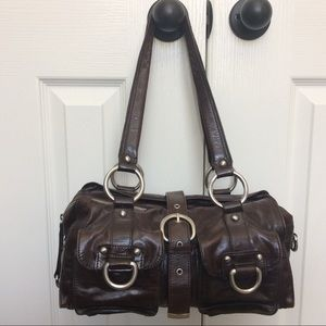 """""""JUST IN"""" Leather satchel"""